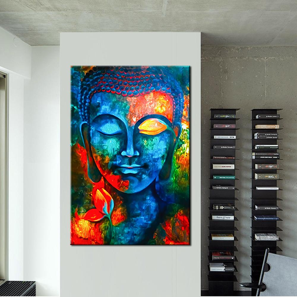 Abstract buddha canvas print wall art 2