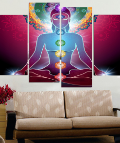 yoga canvas art print