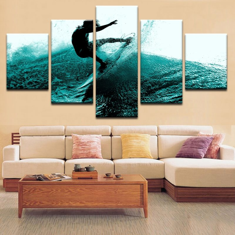 Surfing Canvas Print Wall Art Home Decor – Lucid Crafts