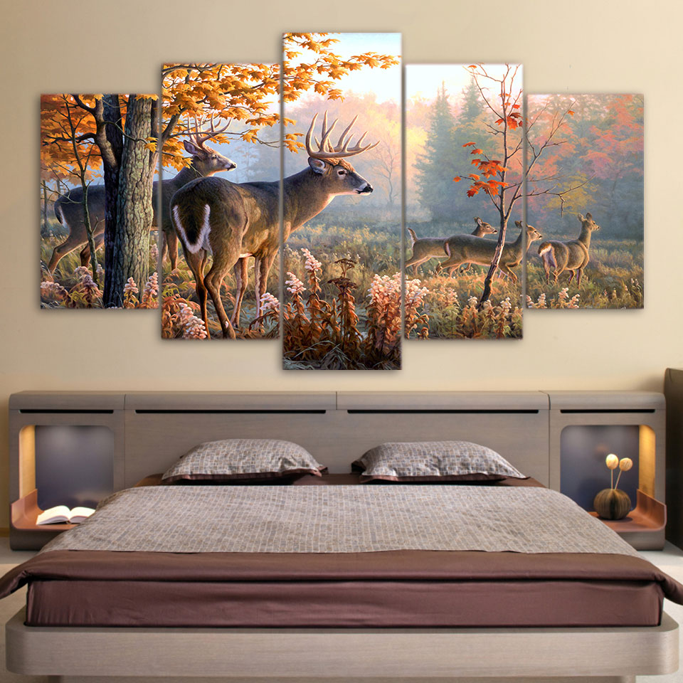Deer Hunting Canvas Print Wall Art Home Decor Lucid Crafts
